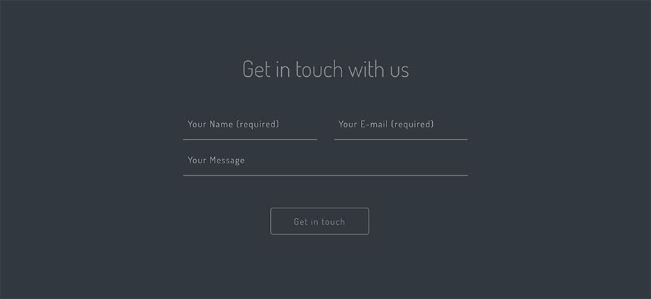 contact form full screen design
