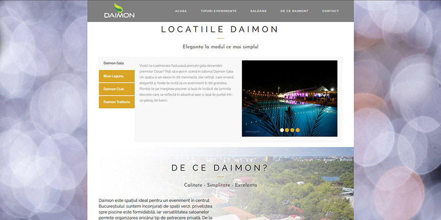 web design evenimente